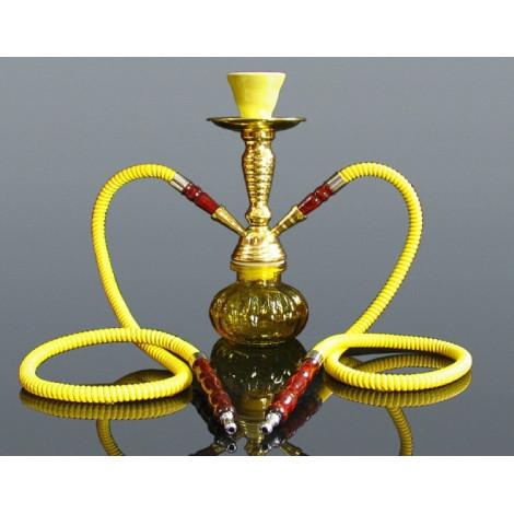 Shisha Pączek 2 węże - Złota 27,5 cm