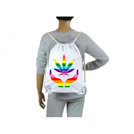 Wodoodporny Worek Plecak - Rainbow Ganja