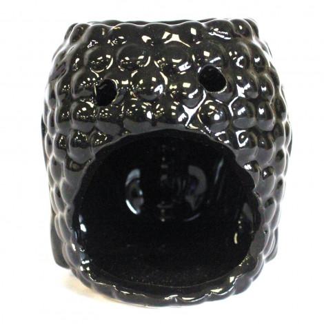 Kominek Do Olejków Ceramiczny Głowa Buddy - Czarny