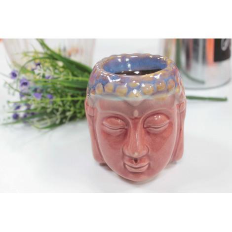 Kominek Do Olejków Ceramiczny Głowa Buddy - Różowy