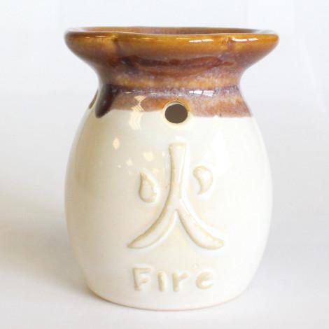 Kominek Do Olejków Ceramiczny Żywioły Fire- Biały