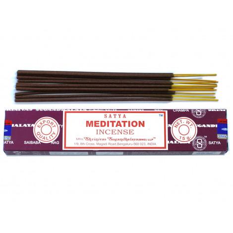 Kadzidełka SATYA -  Meditation (Medytacja) 15g