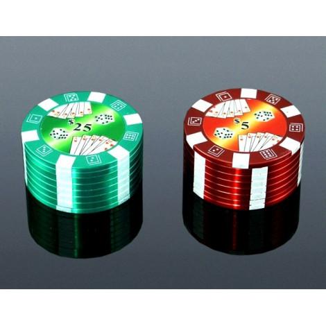 Grinder Metalowy Poker - Duży