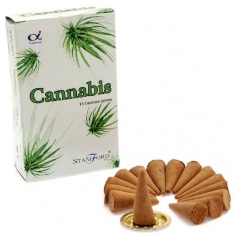Kadzidełka Stożkowe STAMFORD - Cannabis