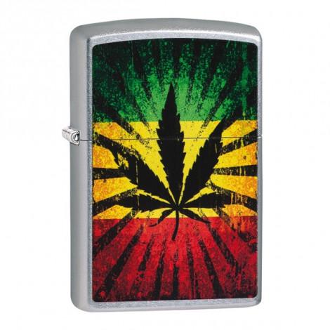 Zapalniczka ZIPPO Liść Marihuany - Rastafari Leaf Design