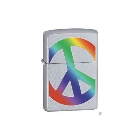 Zapalniczka ZIPPO Znak Pokoju - Peace Satin Chrome