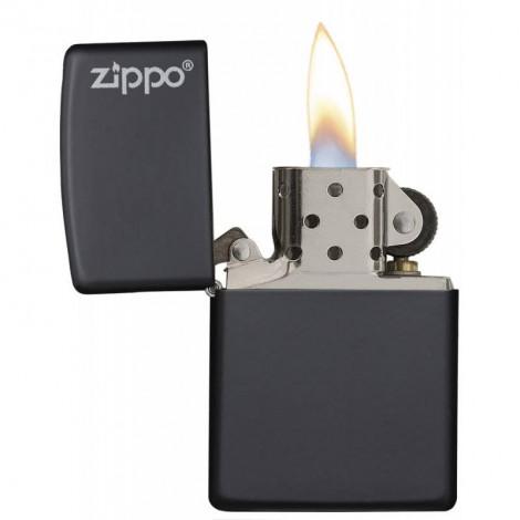 Zapalniczka ZIPPO Logo Black Matte