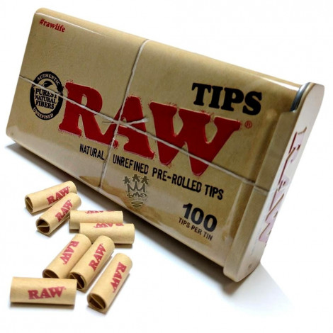 Filterki RAW Prerolled Tips - 100 szt
