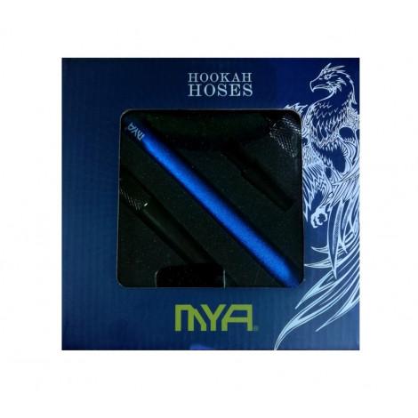 Wąż do Shishy Sylikonowy + Ustnik - MYA Silver/Black