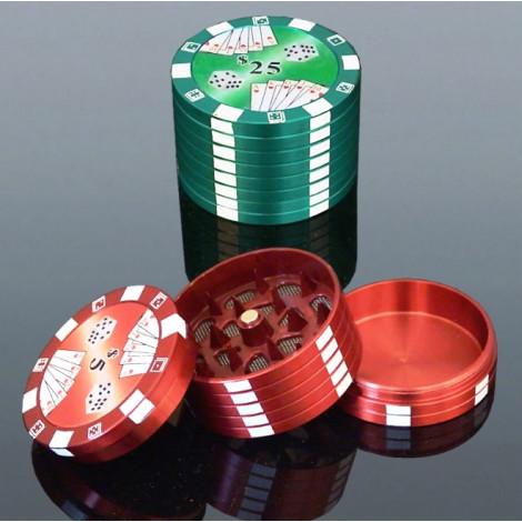 Grinder Metalowy Poker - Średni