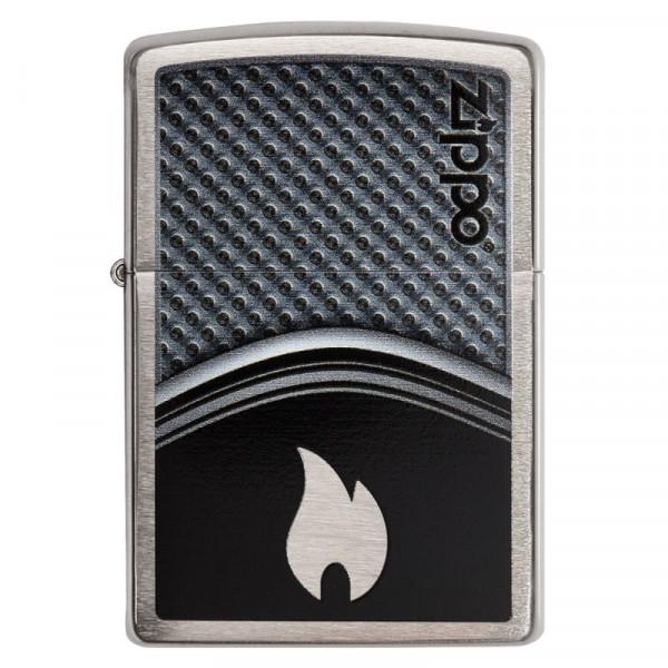 Zapalniczka ZIPPO Metallic Curve With Flame - Metaliczny ogień
