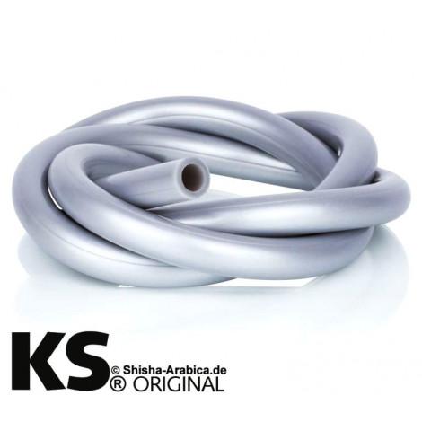 Wąż do Shishy Silikonowy 150cm - Srebrny